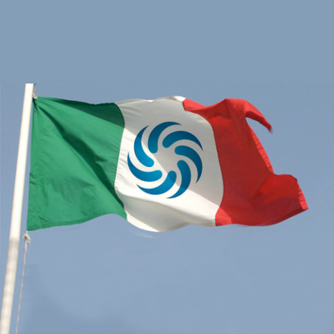 bandiera-dell'italia-personalizzata